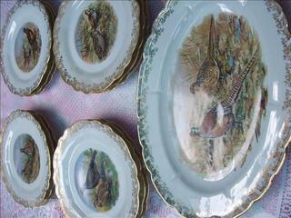 Service de table porcelaine. Limoges- gibier - zoeannonces