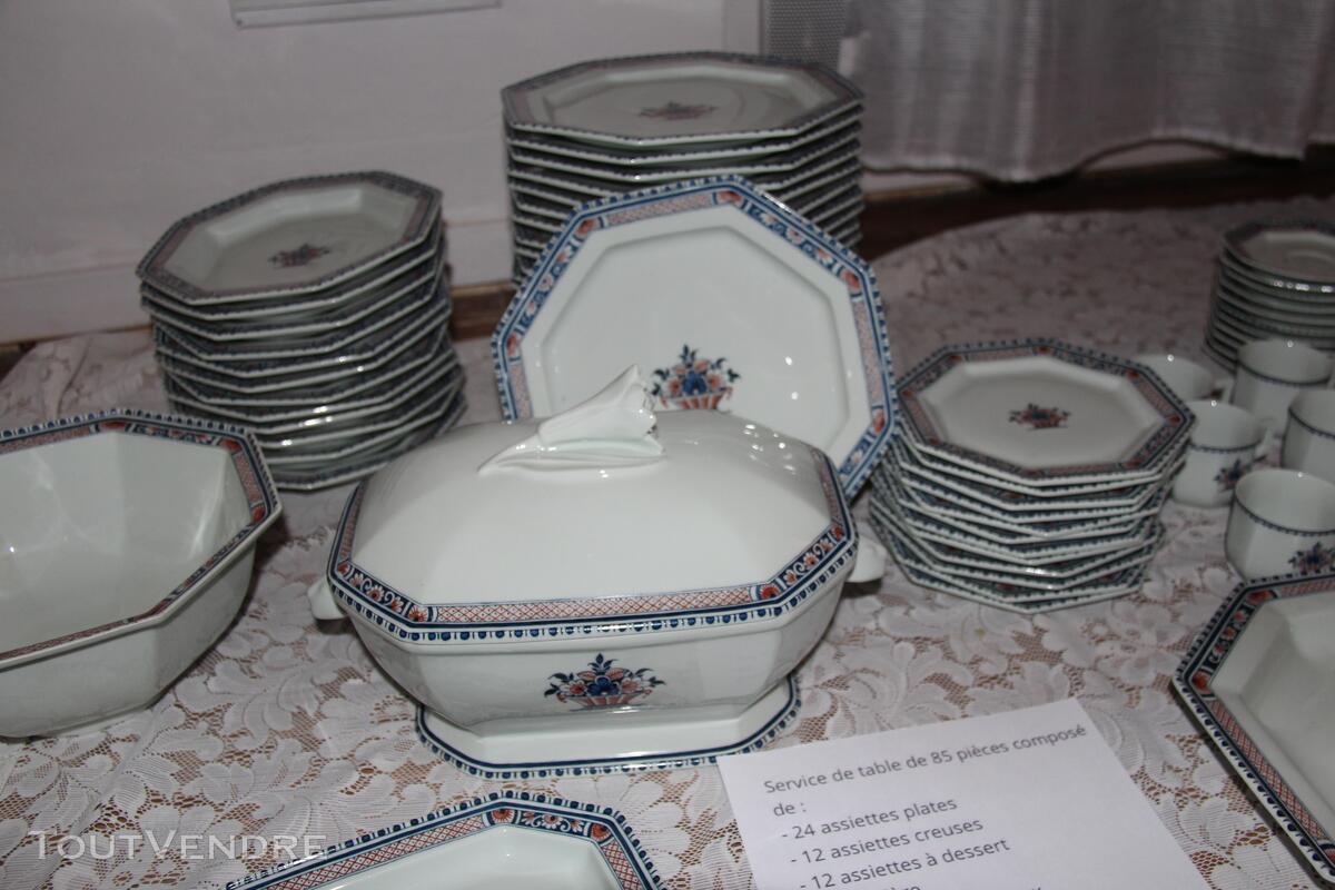 """Service en Porcelaine de Limoges """"Vieux Rouen"""" signé Coquet 339070723"""