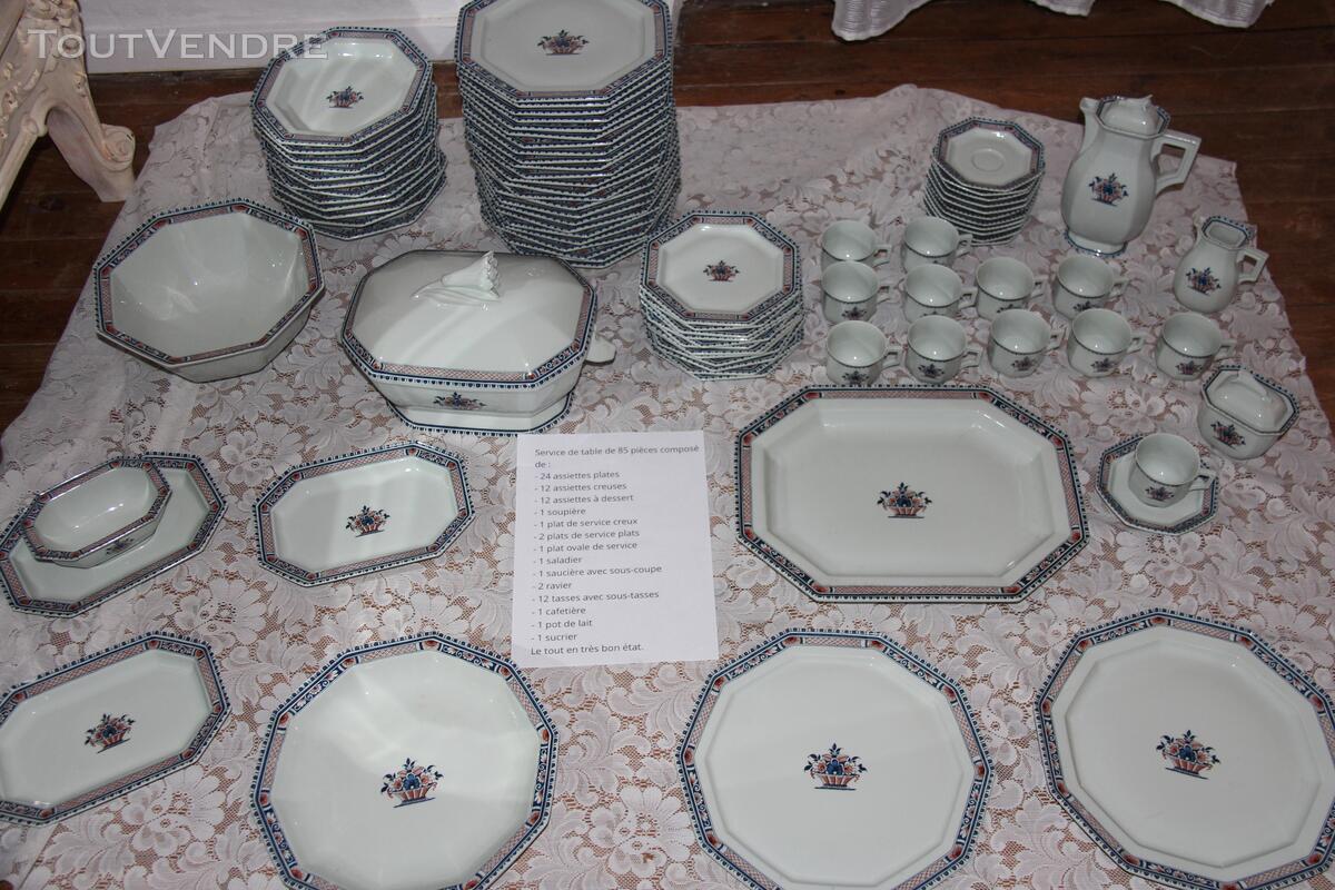 """Service en Porcelaine de Limoges """"Vieux Rouen"""" signé Coquet 339070726"""