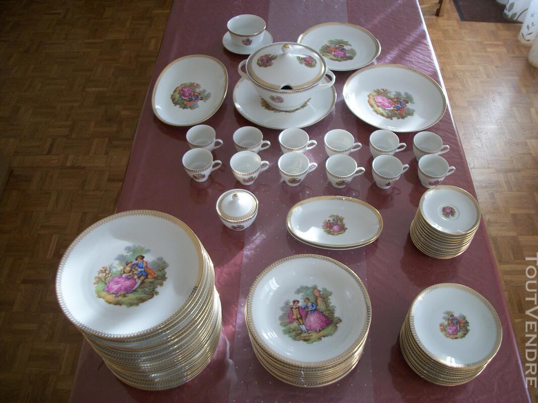 Service porcelaine Mitterteich bavaria - motifs Fragonard 151752325
