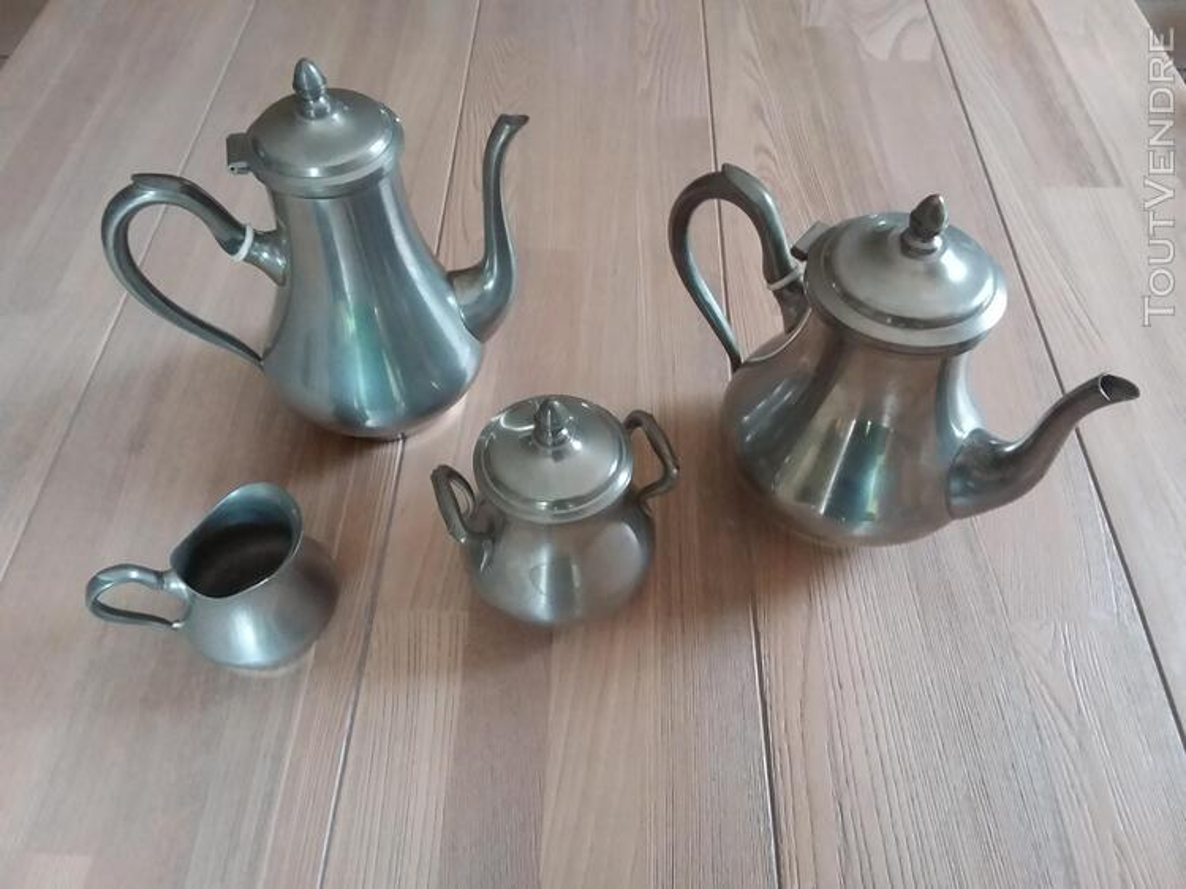 Service thé /café étain du Manoir 710923722