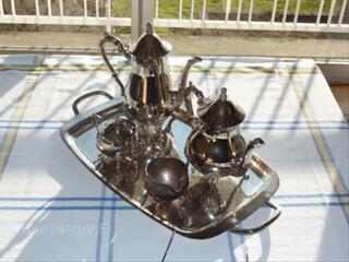 Service thé et café en métal argenté