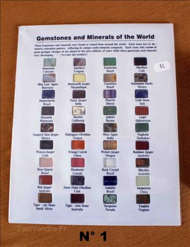 Set de Pierres semi-précieuses et minéraux du Monde 36 ou 56 36019006