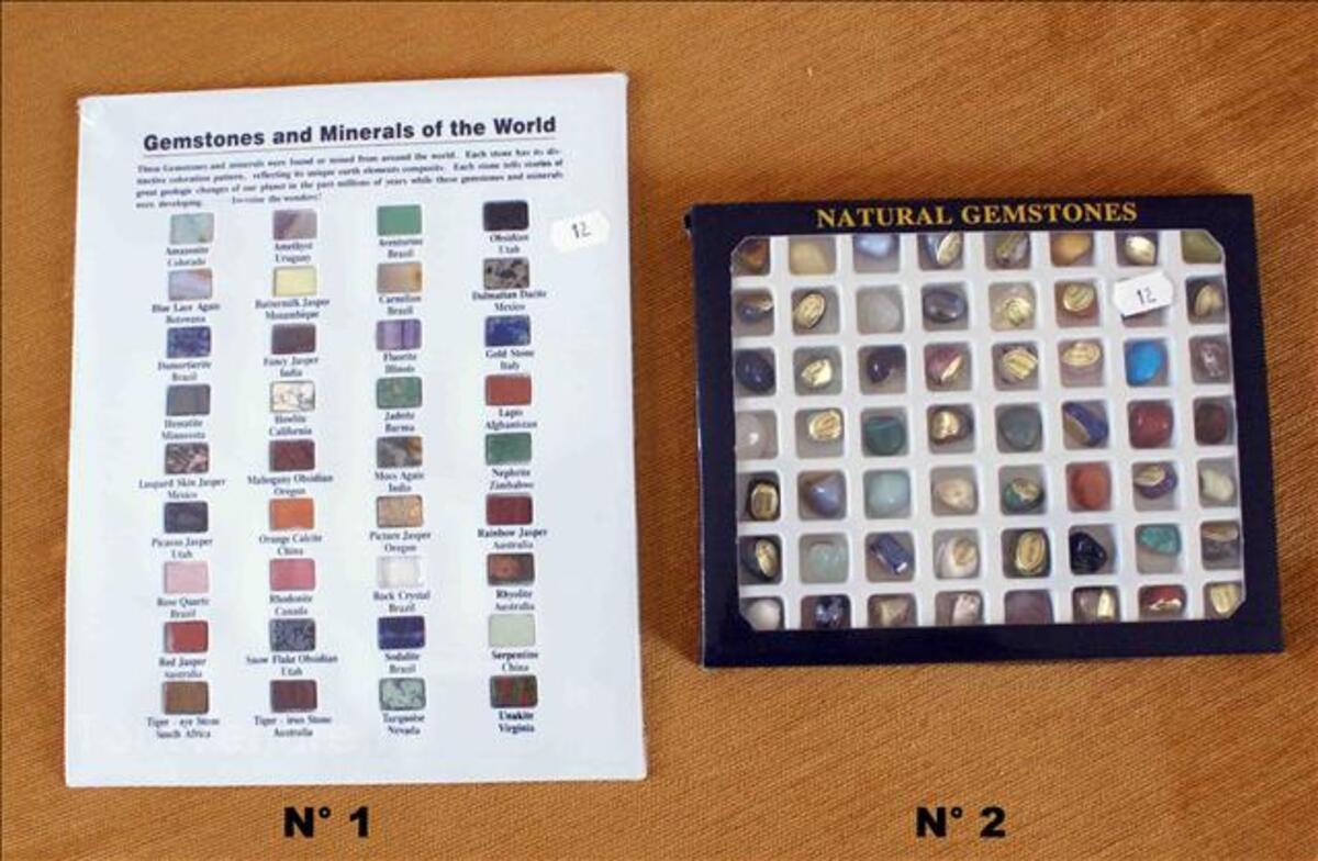 Set de Pierres semi-précieuses minéraux du Monde 36 ou 56pcs 35520005