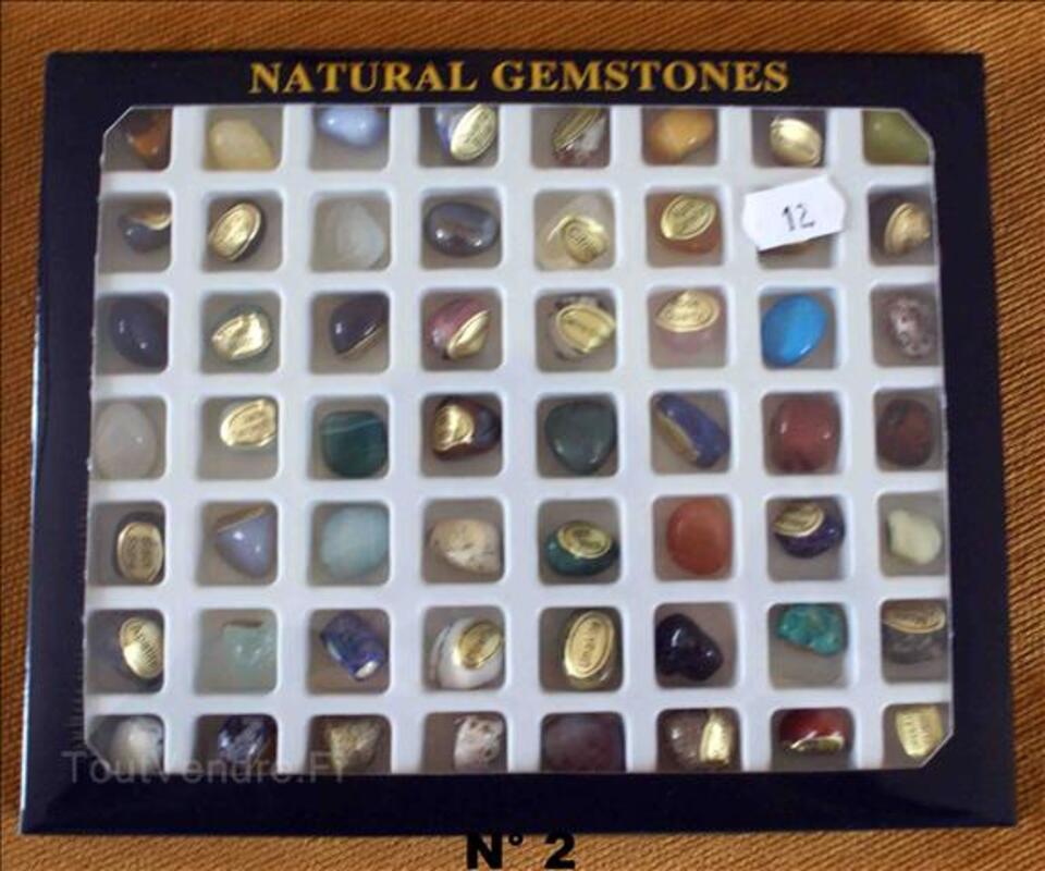 Set de Pierres semi-précieuses minéraux du Monde 36 ou 56pcs 35520007