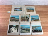Set Of 8 Unbranded Place Mats In Stand Welsh Towns Varius Si