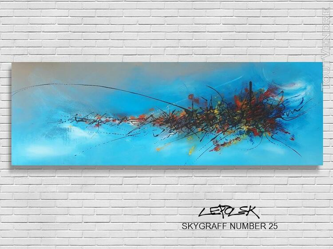 SKYGRAFF number 25  Tableau graffiti abstrait original 560262953
