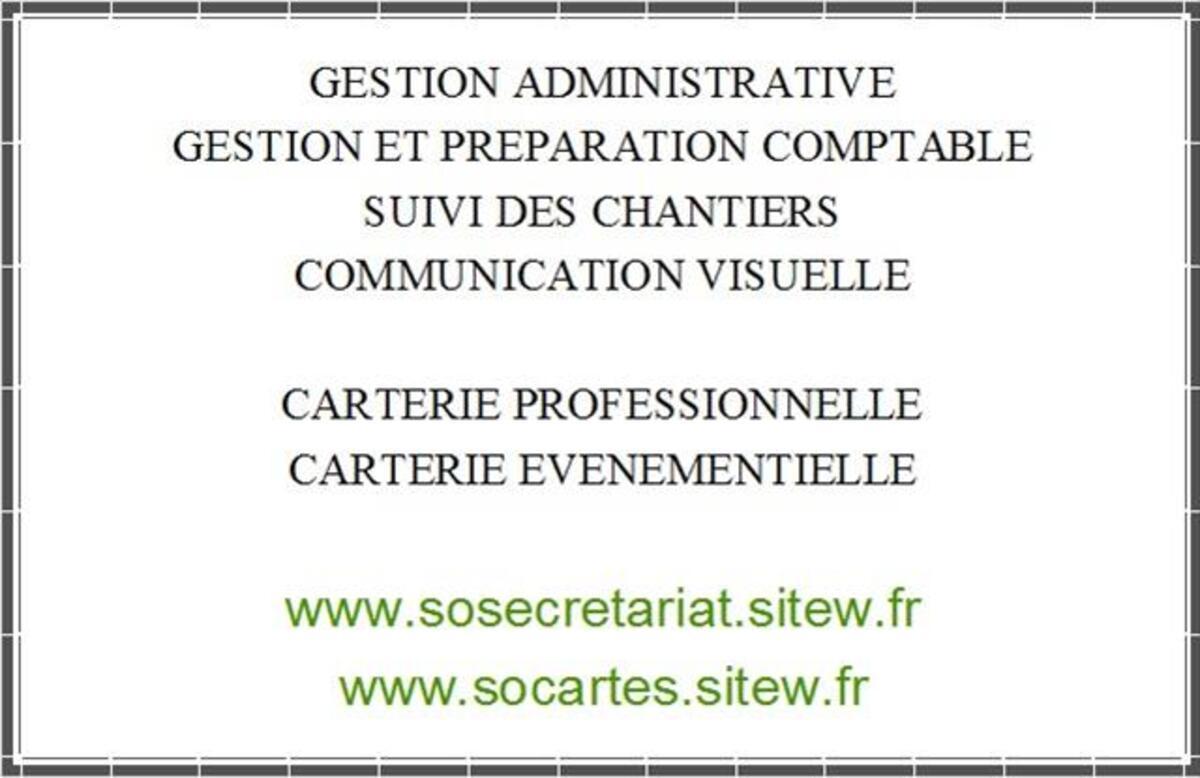 SOSECRETARIAT & SOCARTES - Secrétariat à domicile & carterie 79278158