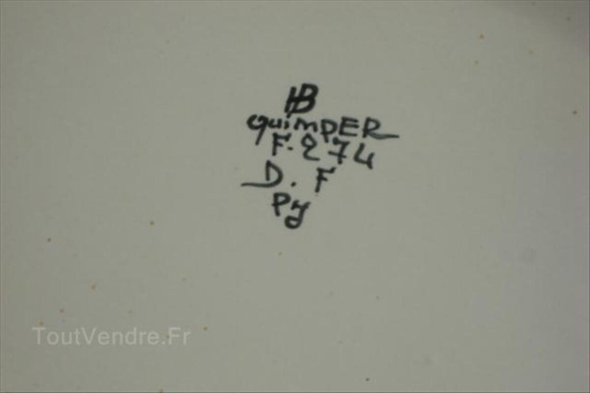 """SOUPIERE, CENTRE DE TABLE """"QUIMPER"""" 64572324"""