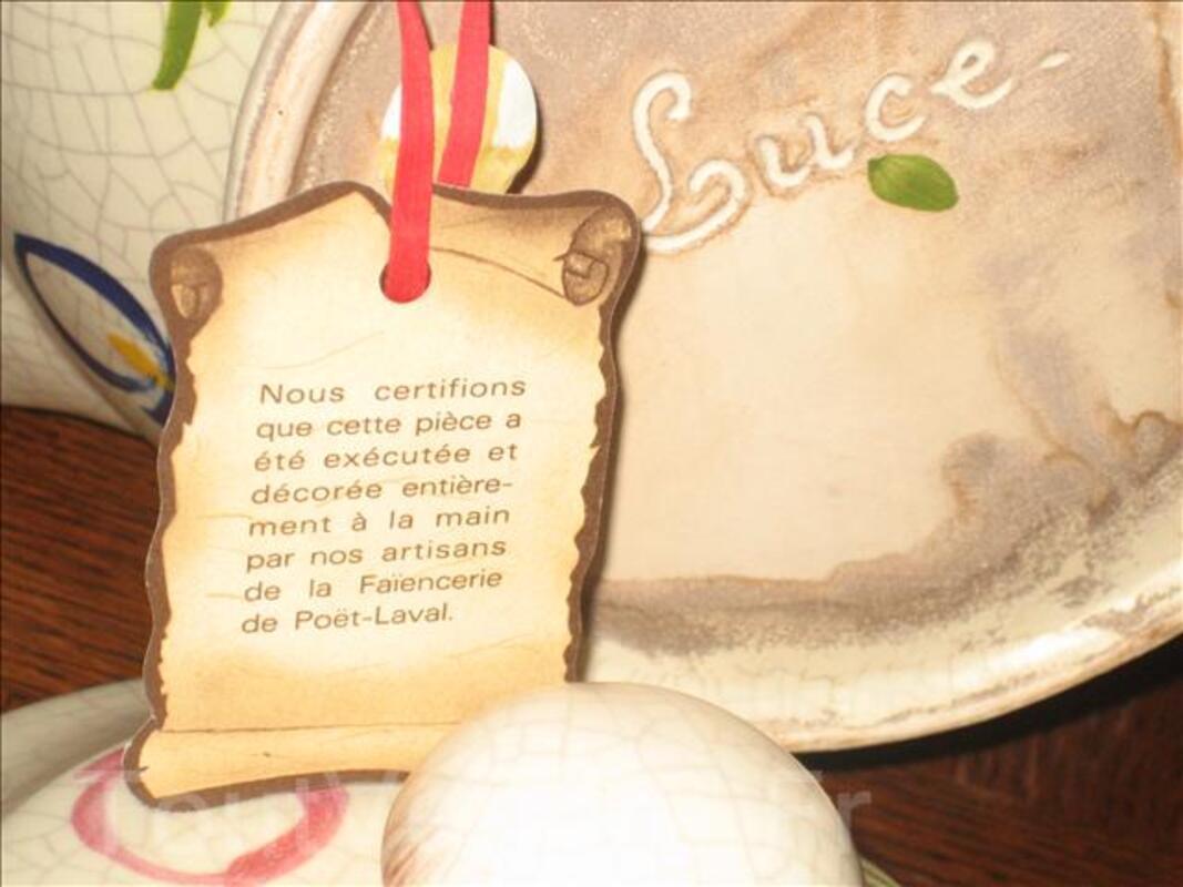 Soupière Faïence Poterie de Poët Laval,NEUVE idéal cadeau!!! 53719053