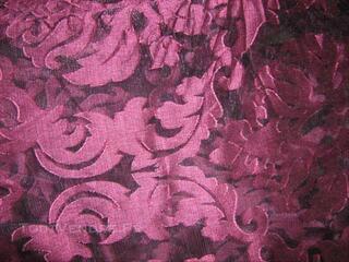Splendide paire de rideau fronceur neuve Prune MADURA