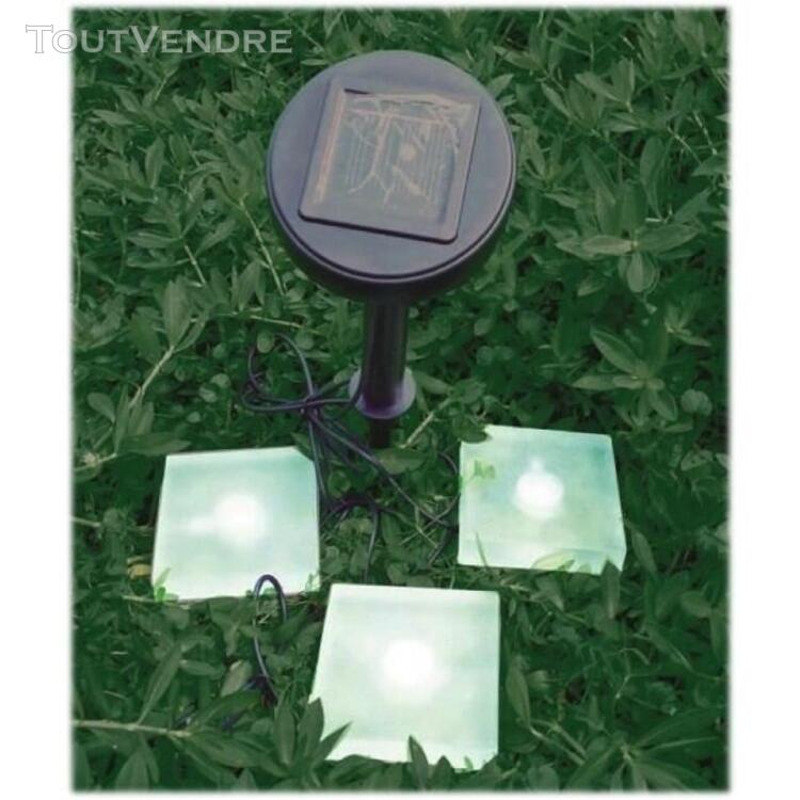 Spot + 3 pierres solaires carrées en verre  13178 RELED SOL 643608562