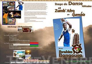 Stage de danse Africaine & Zumb`Afro en Gambie