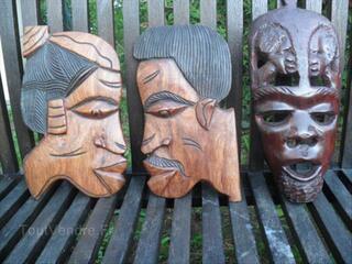 Statue africaine + masque