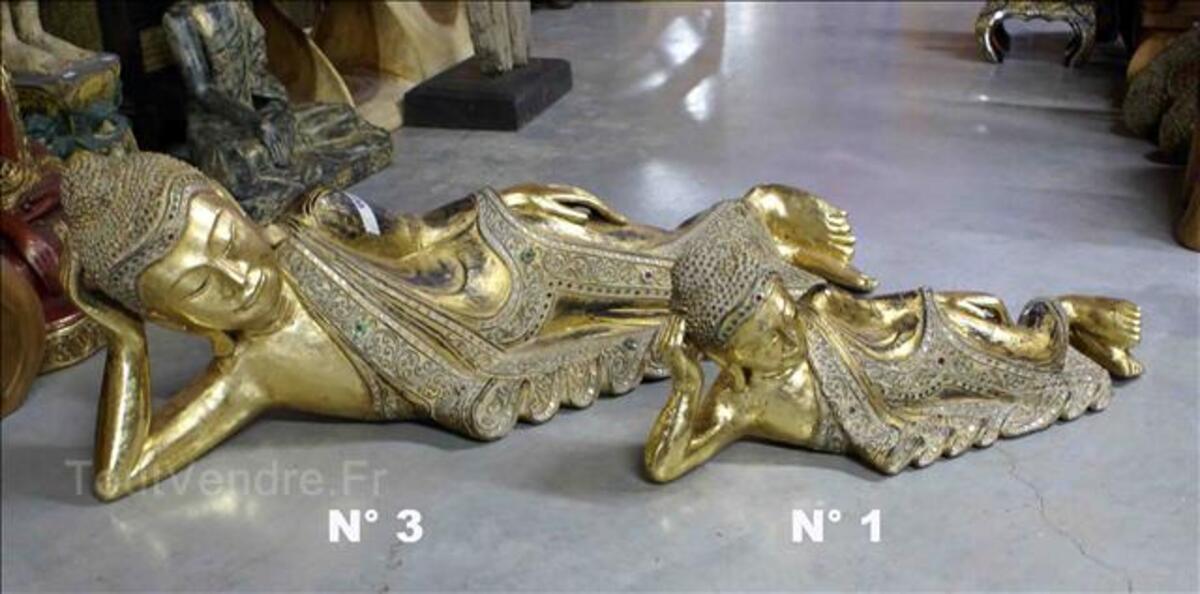 Statue Bouddha allongés - Or fin - L: 64 à 104 cm 35520214