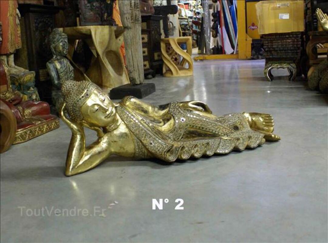 Statue Bouddha allongés - Or fin - L: 64 à 104 cm 35520215