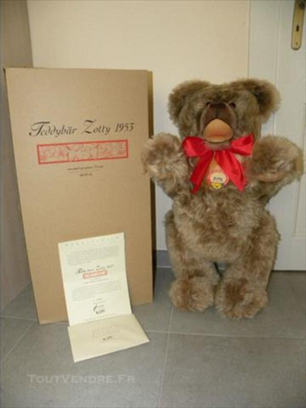 STEIFF RARE TEDDY BEAR ZOTTY 1953 75 cm 77280643