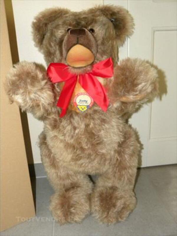 STEIFF RARE TEDDY BEAR ZOTTY 1953 75 cm 77280644