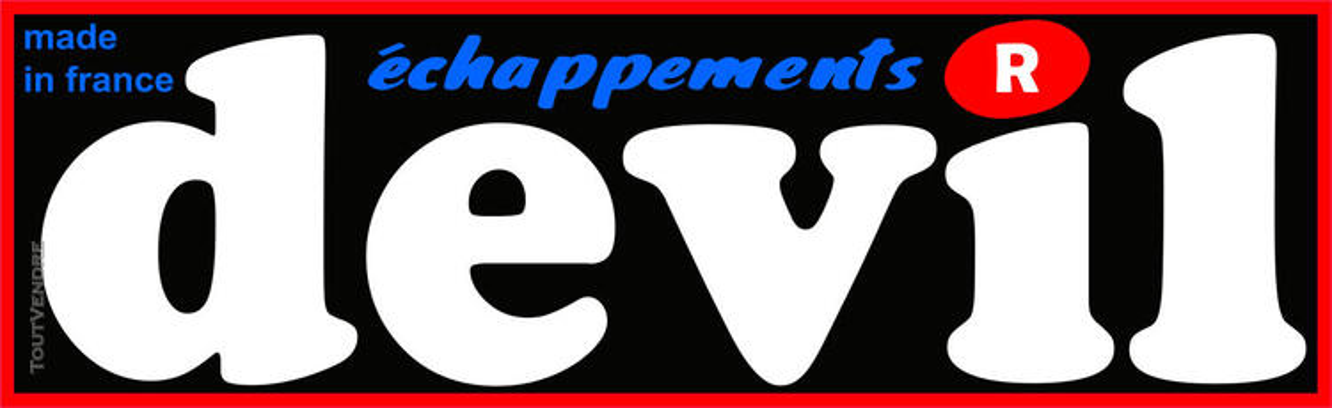 Sticker 'DEVIL' échappement 612619408