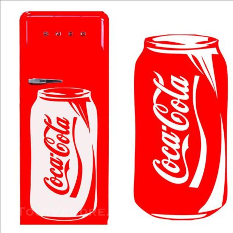 Stickers coca cannette frigo 80201864
