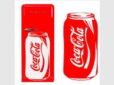 Stickers coca cannette frigo