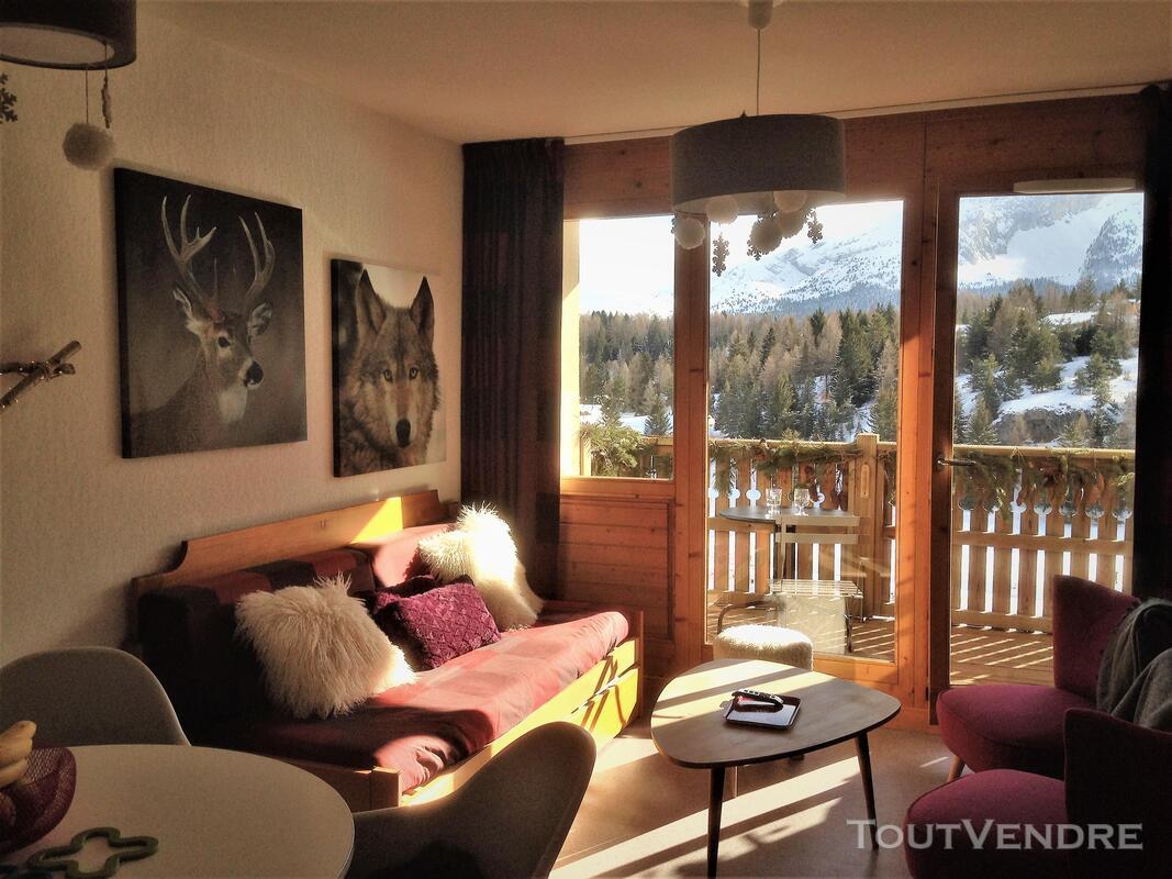 Super Dévoluy Douillet T2 de 31 m² terrasse plein Sud 05250 337391554