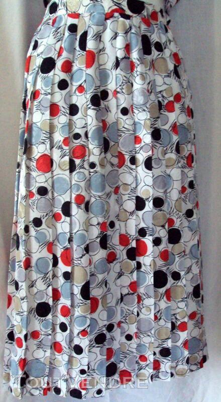 Super jupe & veste  blanc rouge noir 44 246381249