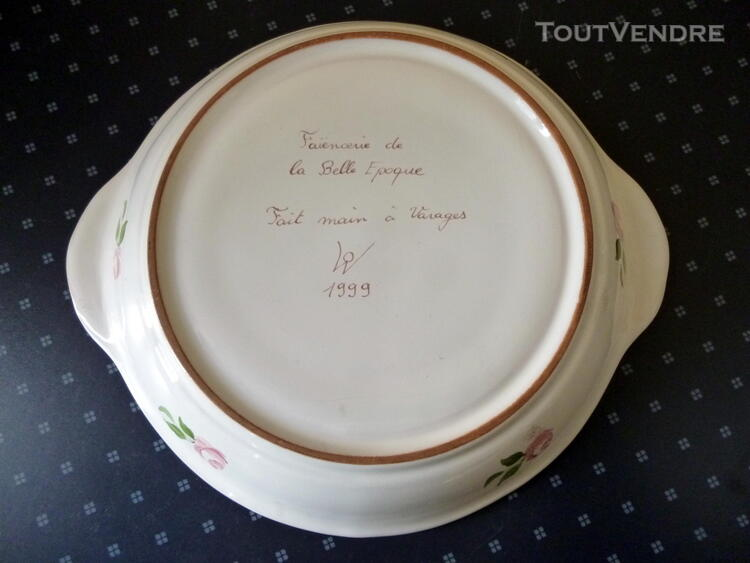 SUPERBE GRAND PLAT de LA FAIENCERIE de VARAGES 1999 179303402