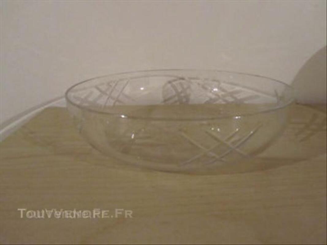 Superbe plat coupe à fruit cristal taillé Saint LOUIS 43941416