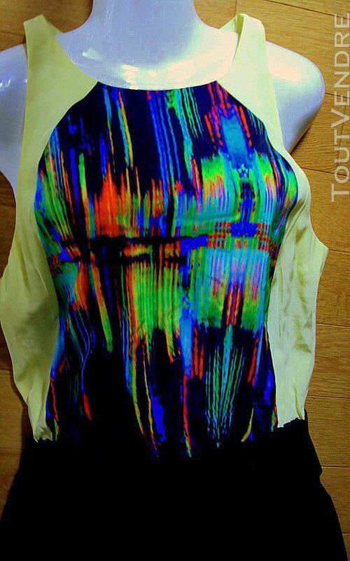 Superbe robe couture BELAIR noir et multicolore 40 243567930