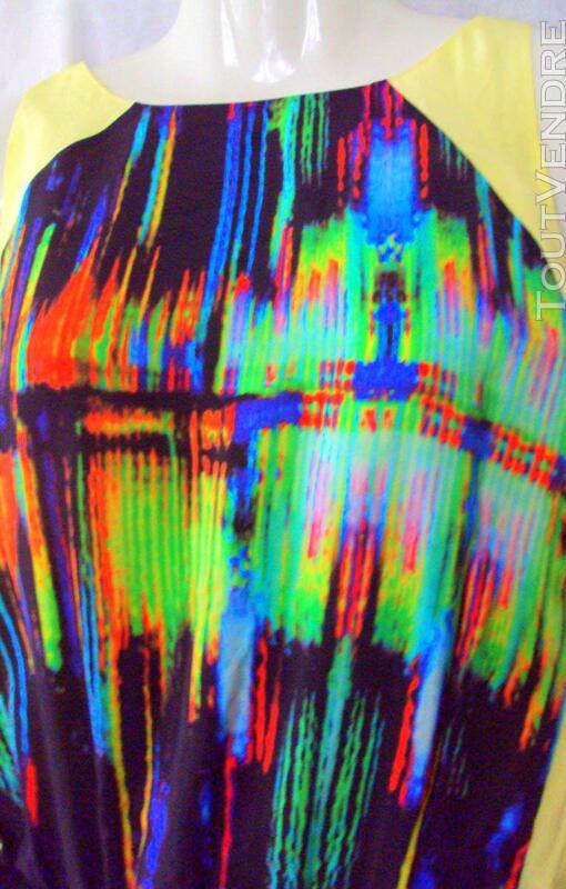 Superbe robe couture BELAIR noir et multicolore 40 243567936