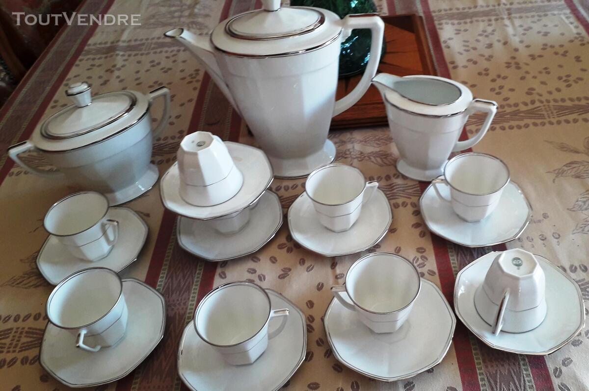 SUPERBE SERVICE A CAFÉ EN PORCELAINE DE LIMOGES FRANCE 663408819