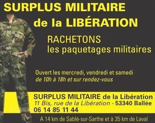 Surplus Américain rachat paquetage et effet militaire