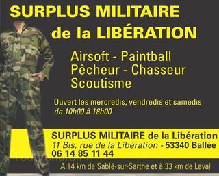 Surplus Militaire en Mayenne (Proche de Laval)
