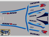 Suzuki GSX R 1100 1990 Kit déco stickers