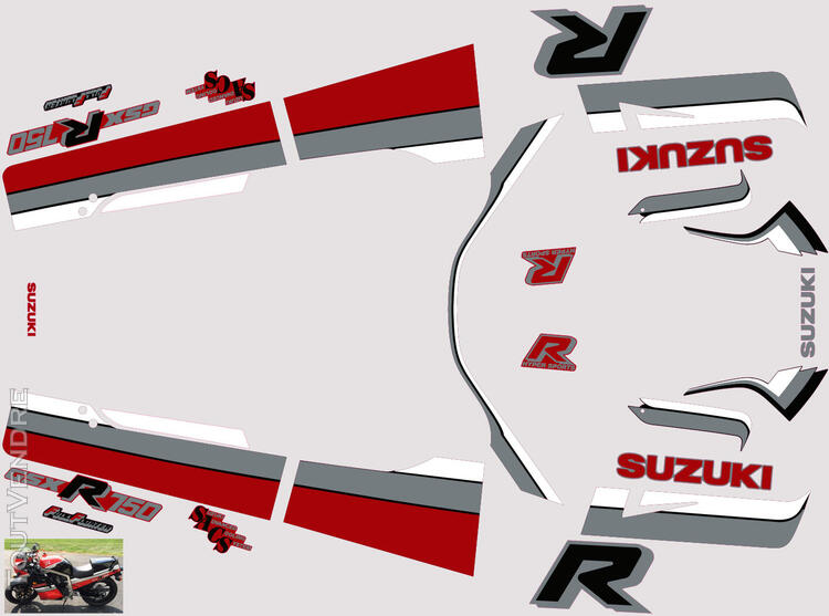 Suzuki GSX R 750 1986 Kit déco stickers 629884685
