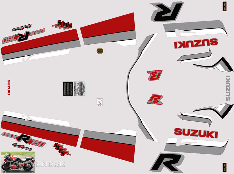 Suzuki GSX R 750 1986 Kit déco stickers 629885138