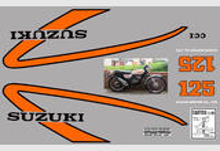 Suzuki TS 125 1975 Kit déco stickers