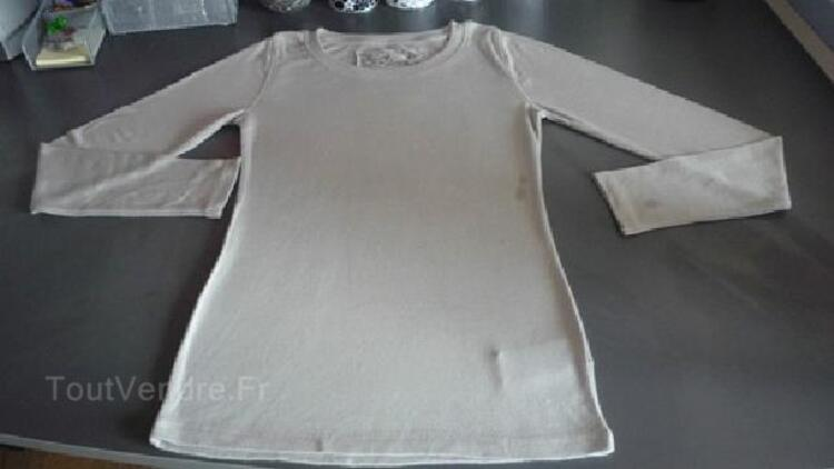 T-shirt fille, manches longues, T. 14 ans. NEUF 95233288
