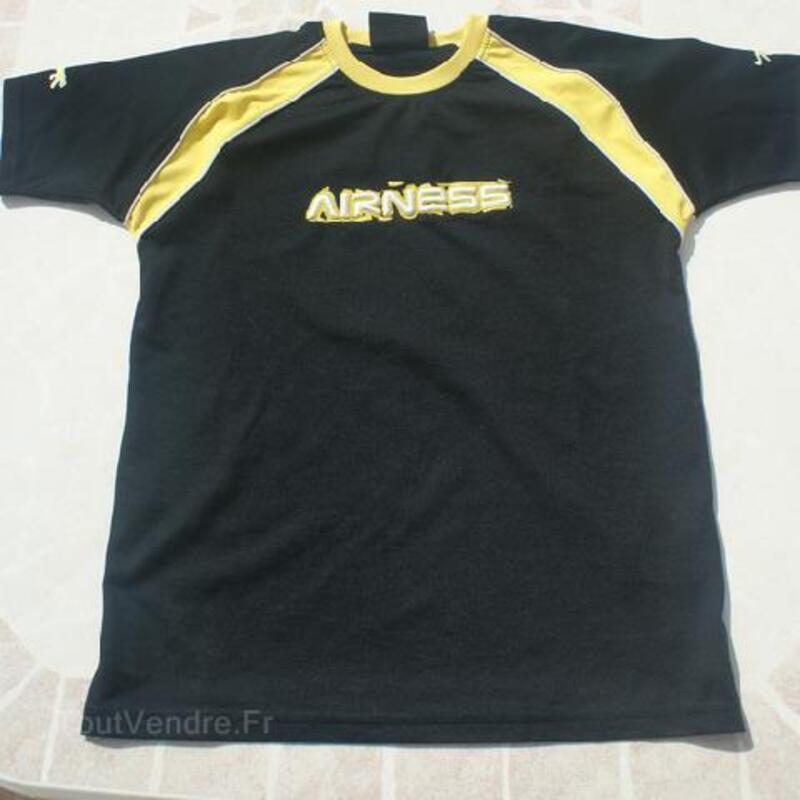 T-shirt noir AIRNESS garçon T. 14 ANS 105419260