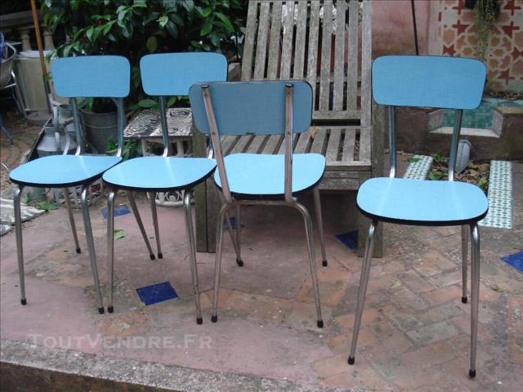 Table + 4 chaises en formica années 60 78234091