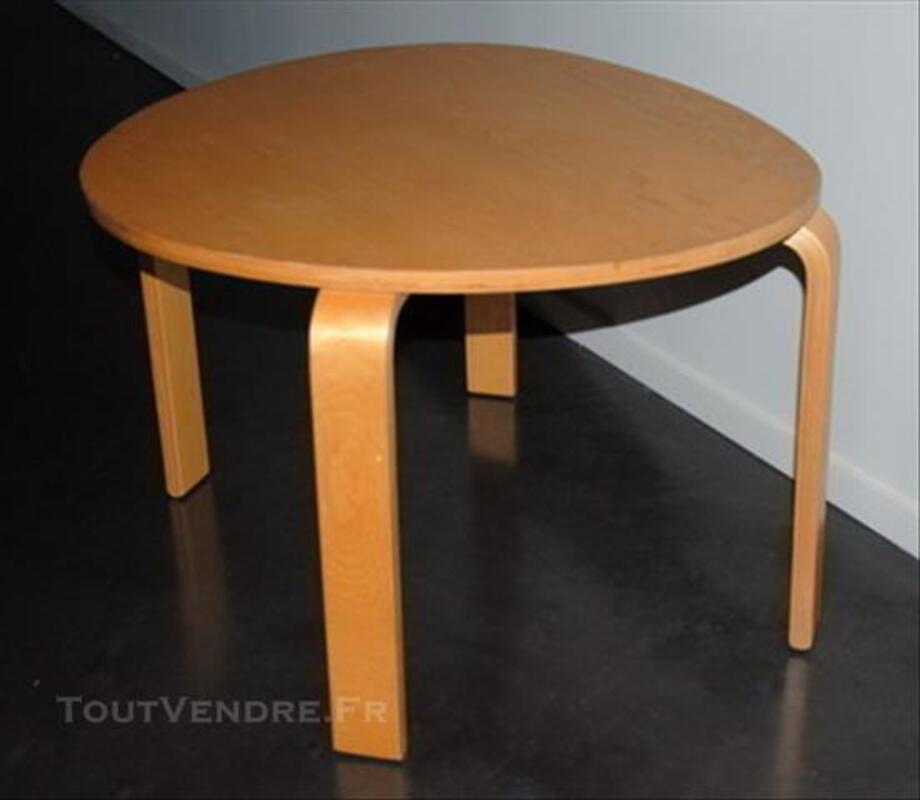 TABLE BASSE DE SALON BOIS VERNIS 77359543