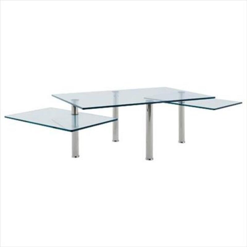 Table basse de salon en verre trempé. moving 12496
