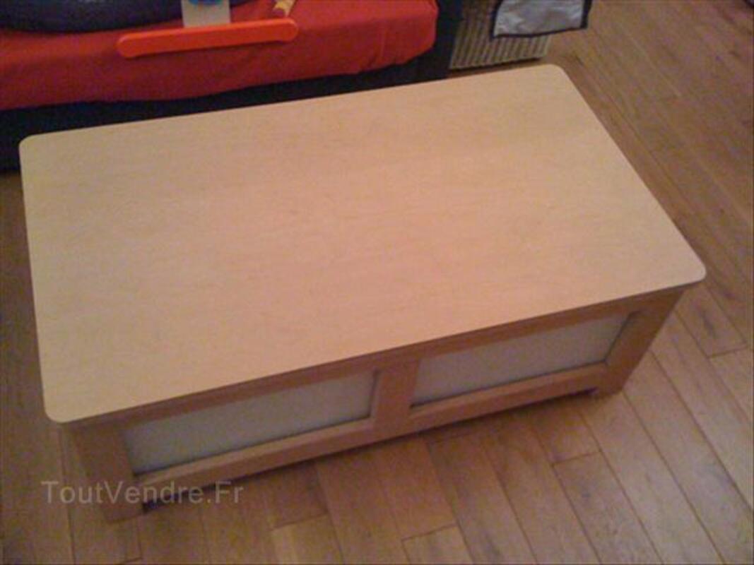 Table basse ikea + 2 cubes de rangment intégrés 56142513