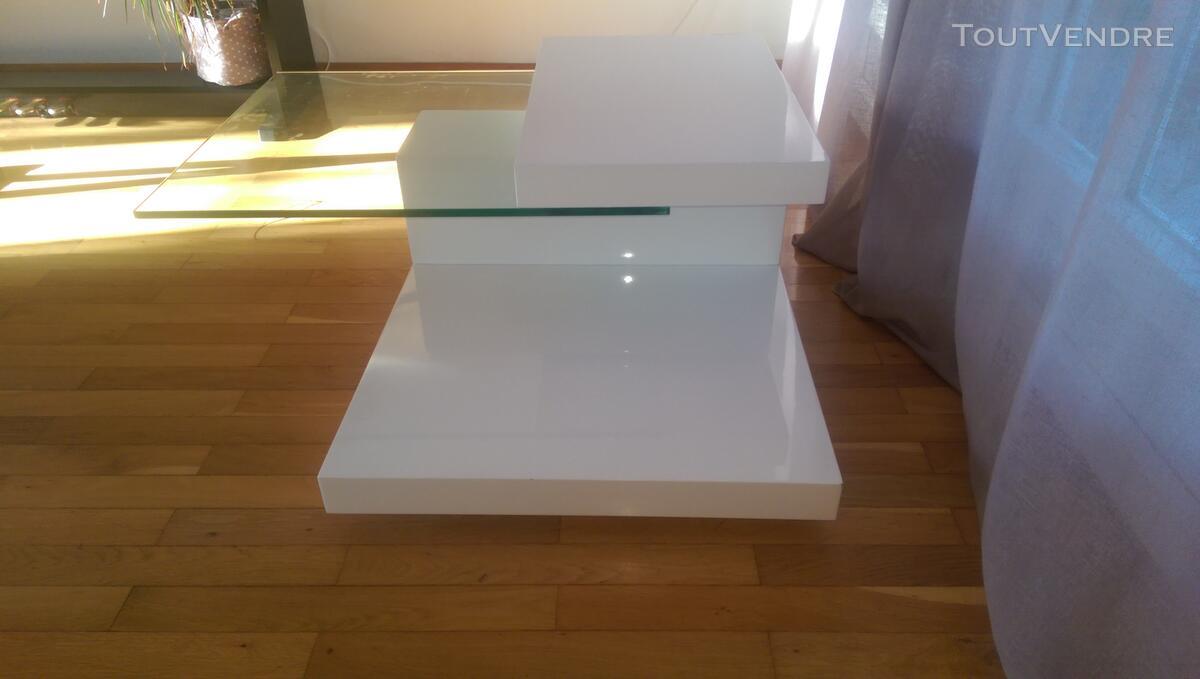 Table basse Roche-Bobois blanc laqué 119784126