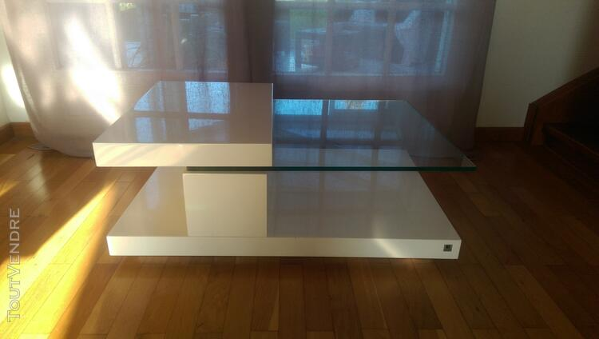 Table basse Roche-Bobois blanc laqué 119784146