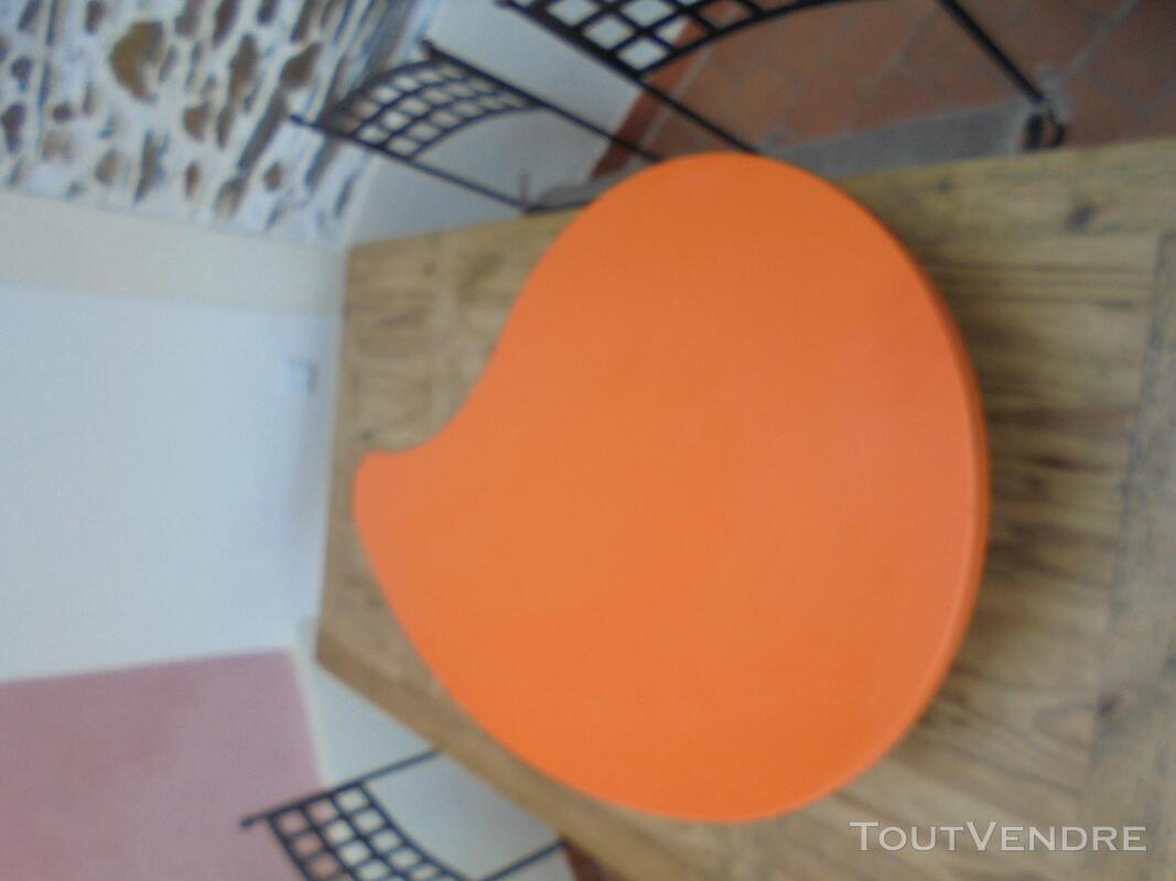 Table basse vintage année 70 orange 290509087