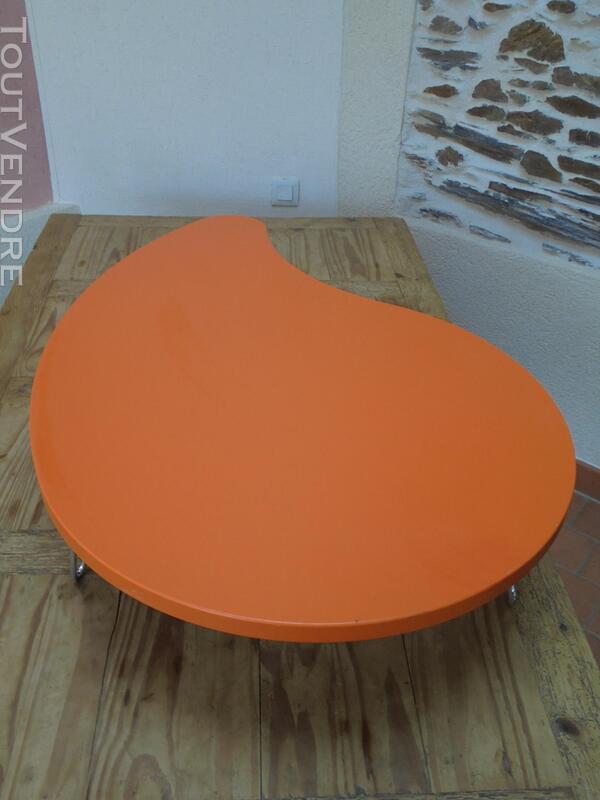 Table basse vintage année 70 orange 290509093