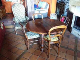 Table chaises fauteuil voltaire