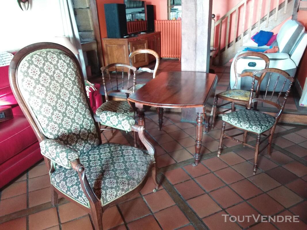 Table chaises fauteuil voltaire 621638145